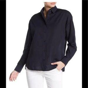 Vince black 100% cotton buttons down blouse S